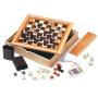 סט 7 משחקים בקופסת עץ