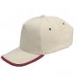 כובע כותנה סרוקה עם סוגר מתכת עם פס במצחיה