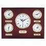 שעון קיר עץ בינלאומי - 5 ארצות
