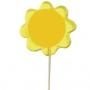 סוכריות ממותגות על מקל בצורת פרח בגודל 8X8