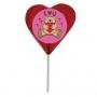 """סוכריה על מקל בצורת לב בגודל 4X4 ס""""מ עם תמונה"""