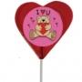 סוכריות גדולות על מקל בצורת לב בגודל 8X8 עם לוגו תמונה צבעונית