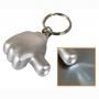 מחזיק מפתחות עם פנס לד בצורת יד