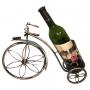 מעמדים לבקבוקי יין בודדים בצורת תלת אופן יוקרתי ממתכת