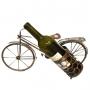 מעמד יין יוקרתי דקורטיבי ממתכת בציפוי ברונזה