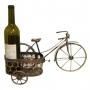 מעמד יין לזוג בקבוקים יוקרתי בצורת אופניים ממתכת למנהל