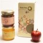 חבילות שי אישיות עם 2 צנצנות ותפוח